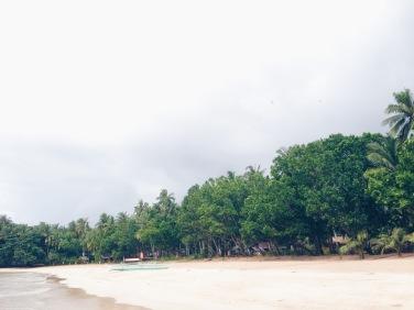 Sabang Beach! the location of Daluyon Hotel
