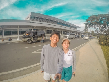 Outside Puerto Princesa Airport